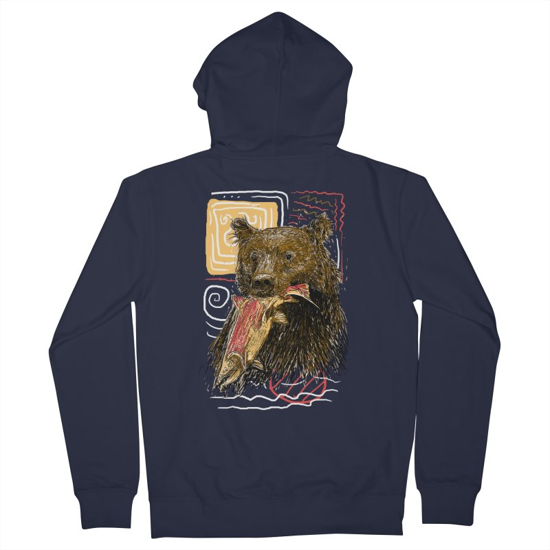 eat bear Men's French Terry Zip-Up Hoody by gupikus's Artist Shop