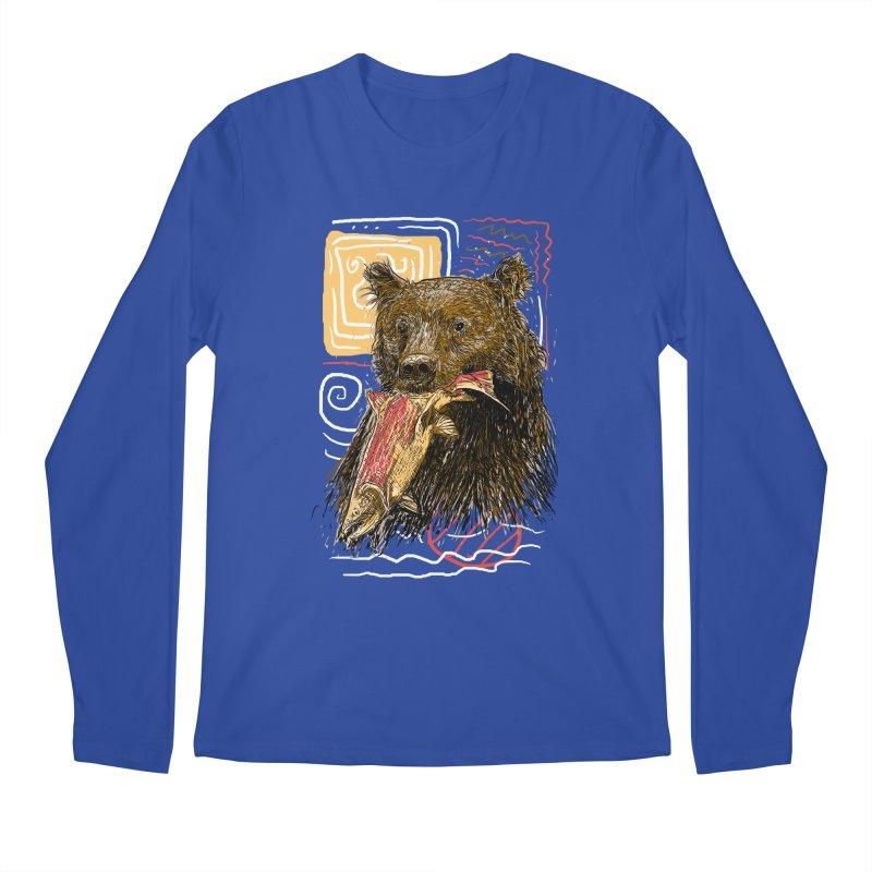 eat bear Men's Regular Longsleeve T-Shirt by gupikus's Artist Shop