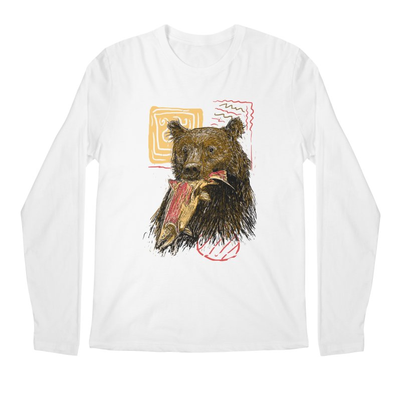 eat bear Men's Longsleeve T-Shirt by gupikus's Artist Shop