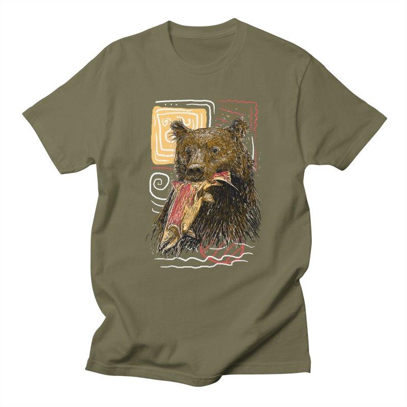 eat bear Men's T-Shirt by gupikus's Artist Shop