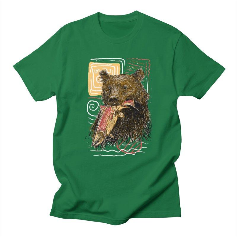 eat bear Men's Regular T-Shirt by gupikus's Artist Shop