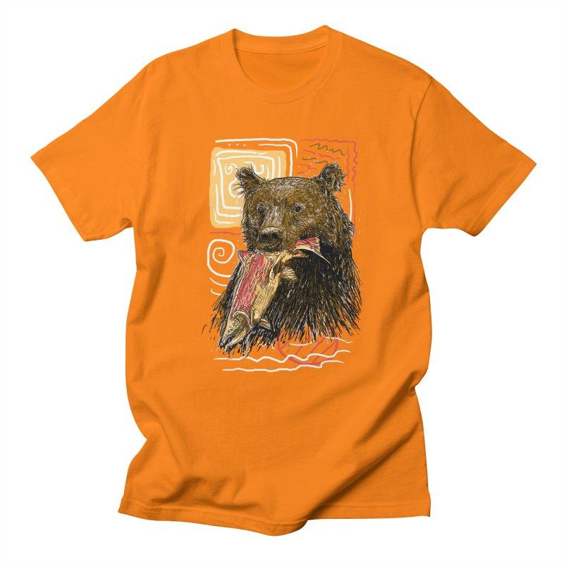 eat bear Women's Regular Unisex T-Shirt by gupikus's Artist Shop