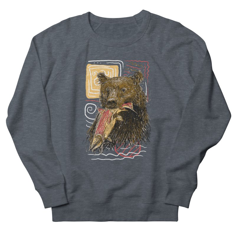 eat bear Women's French Terry Sweatshirt by gupikus's Artist Shop