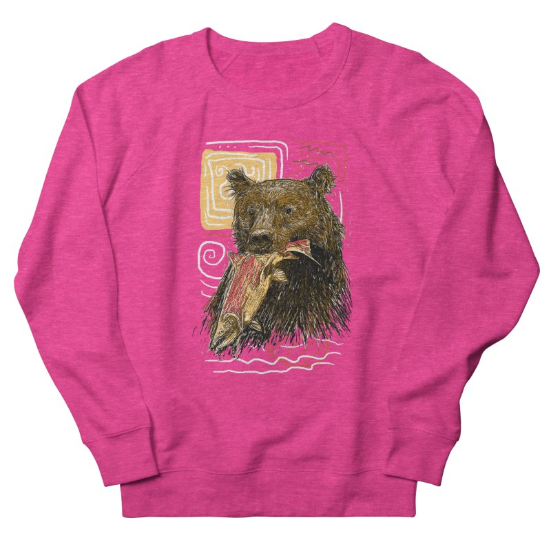 eat bear Men's French Terry Sweatshirt by gupikus's Artist Shop
