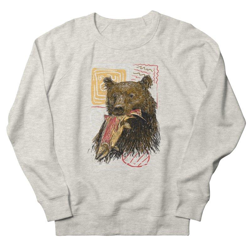 eat bear Men's French Terry Sweatshirt by gupikus's Artist Shop