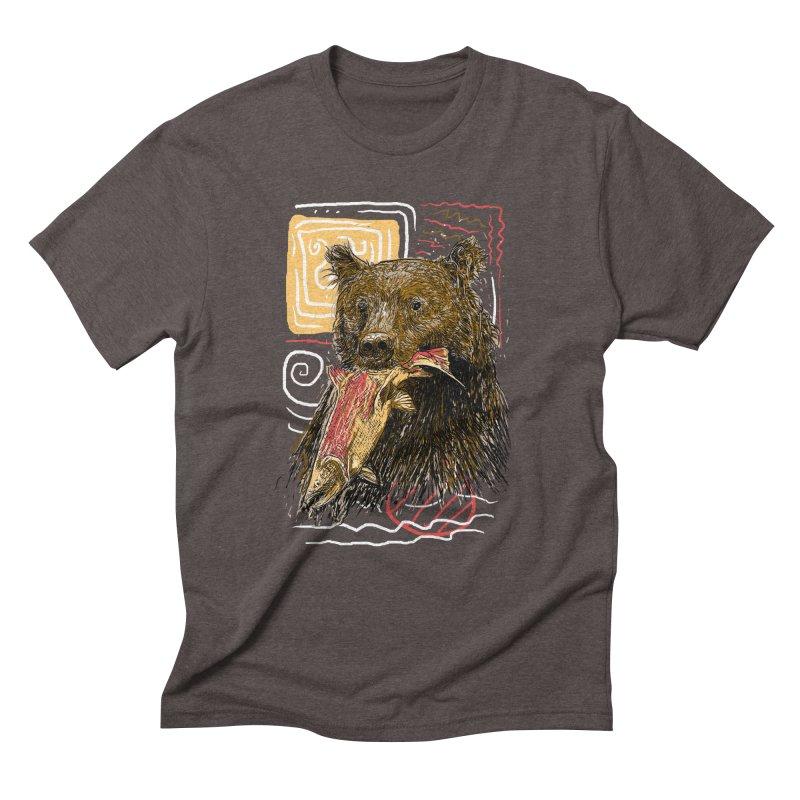 eat bear Men's Triblend T-Shirt by gupikus's Artist Shop