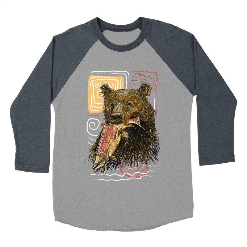 eat bear Women's Baseball Triblend T-Shirt by gupikus's Artist Shop