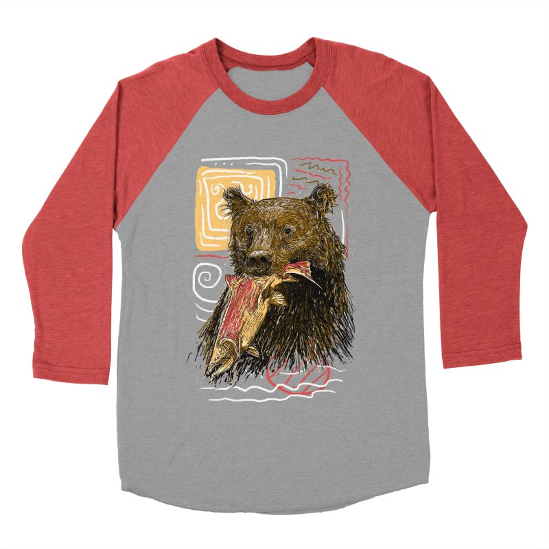 eat bear Men's Baseball Triblend Longsleeve T-Shirt by gupikus's Artist Shop