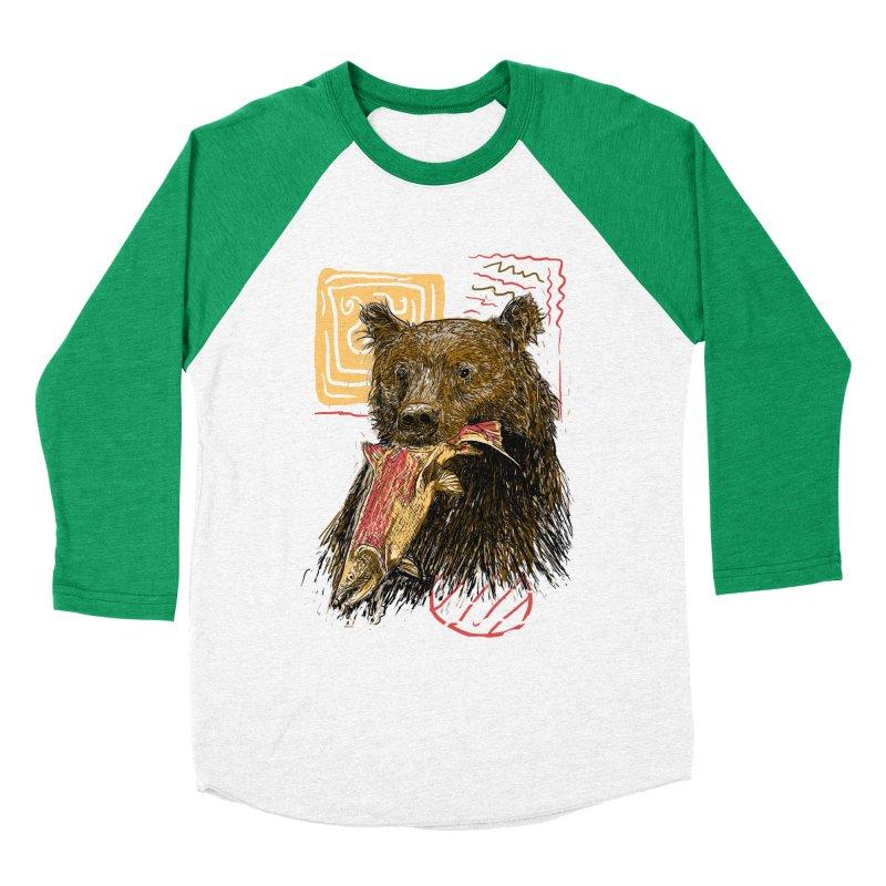eat bear Men's Baseball Triblend Longsleeve T-Shirt by gupikus's Artist Shop