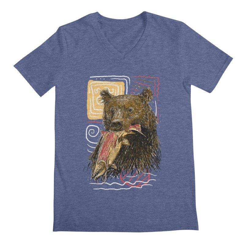 eat bear Men's Regular V-Neck by gupikus's Artist Shop