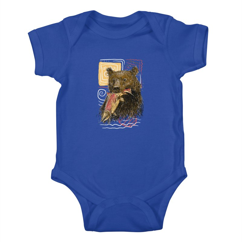 eat bear Kids Baby Bodysuit by gupikus's Artist Shop