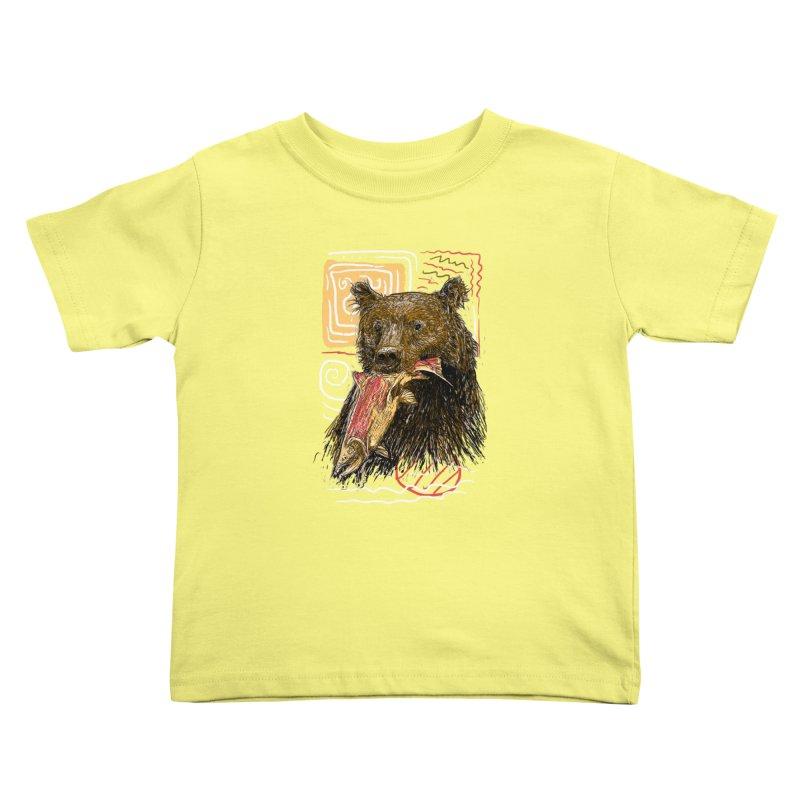 eat bear Kids Toddler T-Shirt by gupikus's Artist Shop