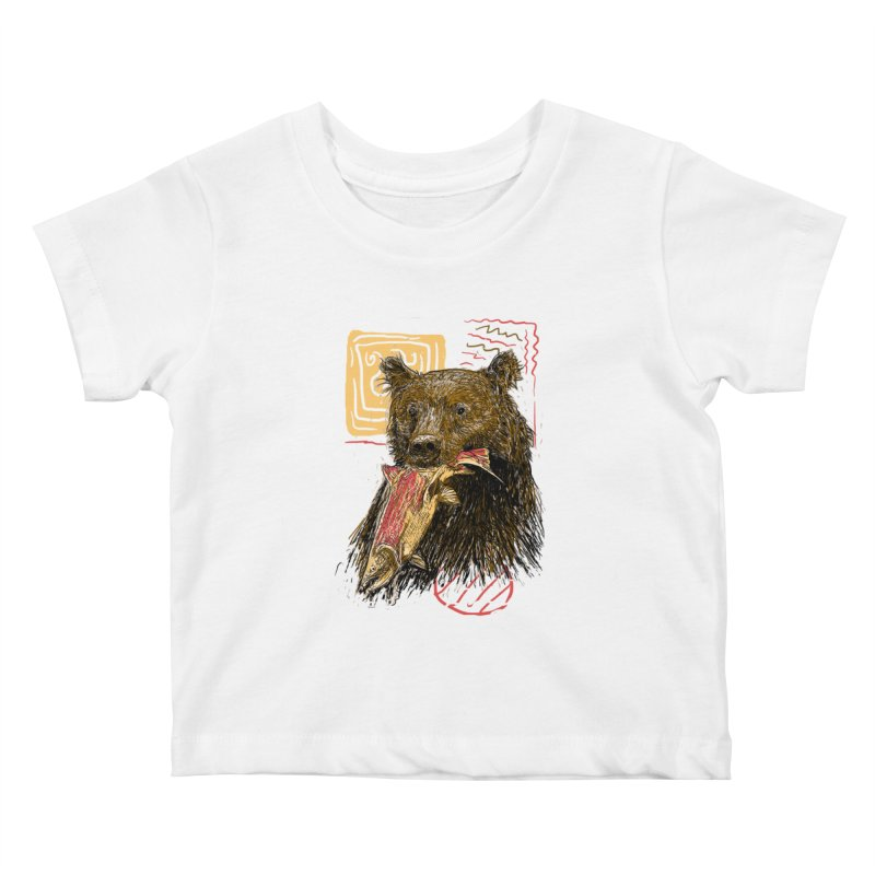 eat bear Kids Baby T-Shirt by gupikus's Artist Shop