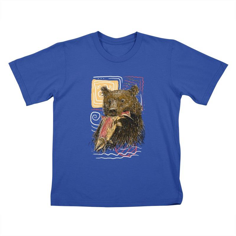 eat bear Kids T-Shirt by gupikus's Artist Shop