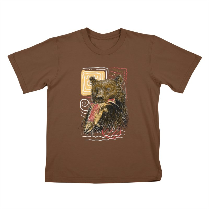 eat bear Kids T-Shirt by gupikus's Artist Shop