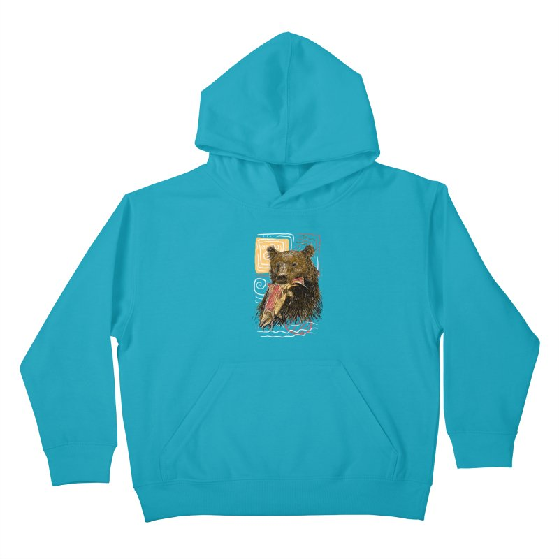 eat bear Kids Pullover Hoody by gupikus's Artist Shop