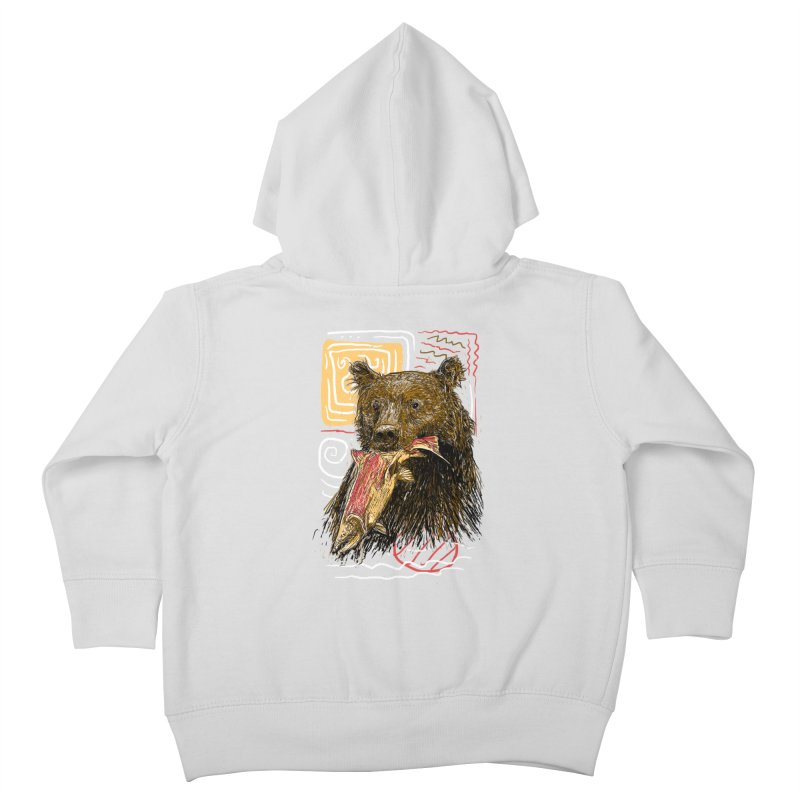 eat bear Kids Toddler Zip-Up Hoody by gupikus's Artist Shop