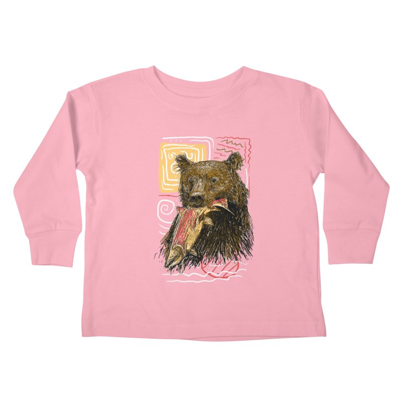 eat bear Kids Toddler Longsleeve T-Shirt by gupikus's Artist Shop