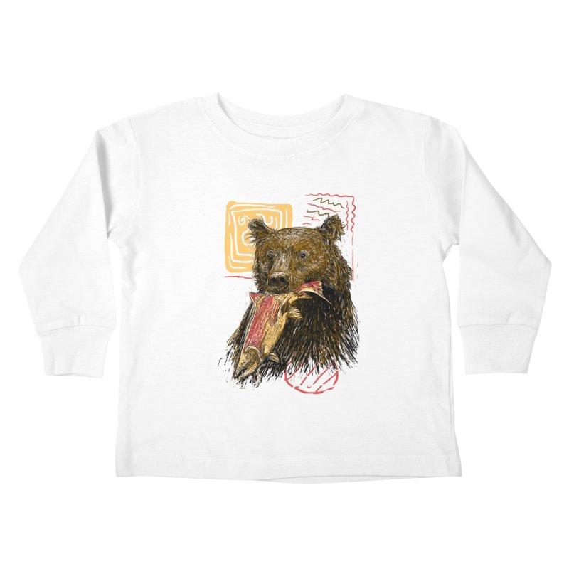 eat bear Kids Toddler Longsleeve T-Shirt by gupikus's Artist Shop