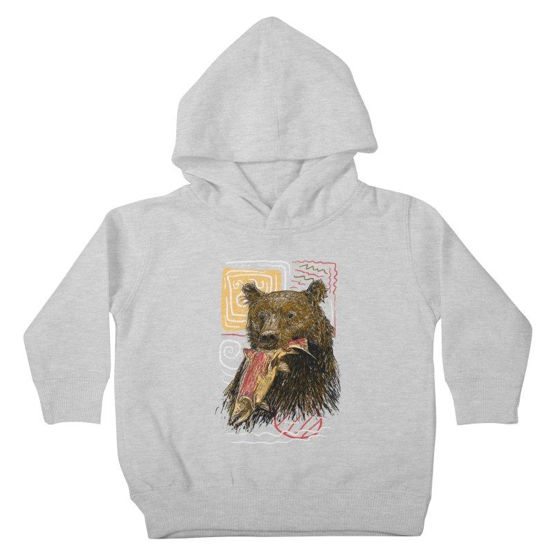 eat bear Kids Toddler Pullover Hoody by gupikus's Artist Shop
