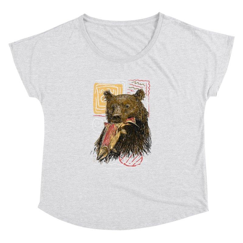 eat bear Women's Dolman Scoop Neck by gupikus's Artist Shop