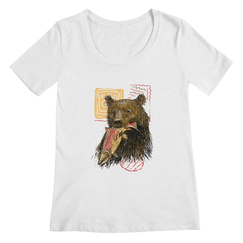eat bear Women's Regular Scoop Neck by gupikus's Artist Shop