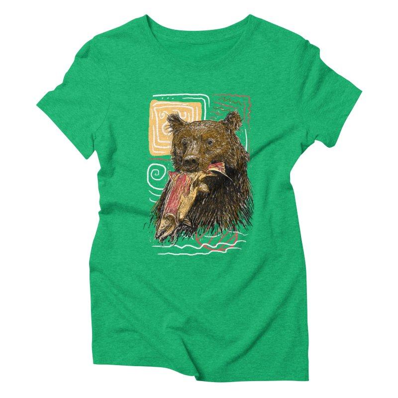 eat bear Women's Triblend T-Shirt by gupikus's Artist Shop