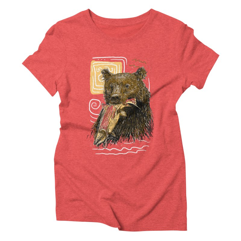 eat bear Women's Triblend T-Shirt by gupikus's Artist Shop