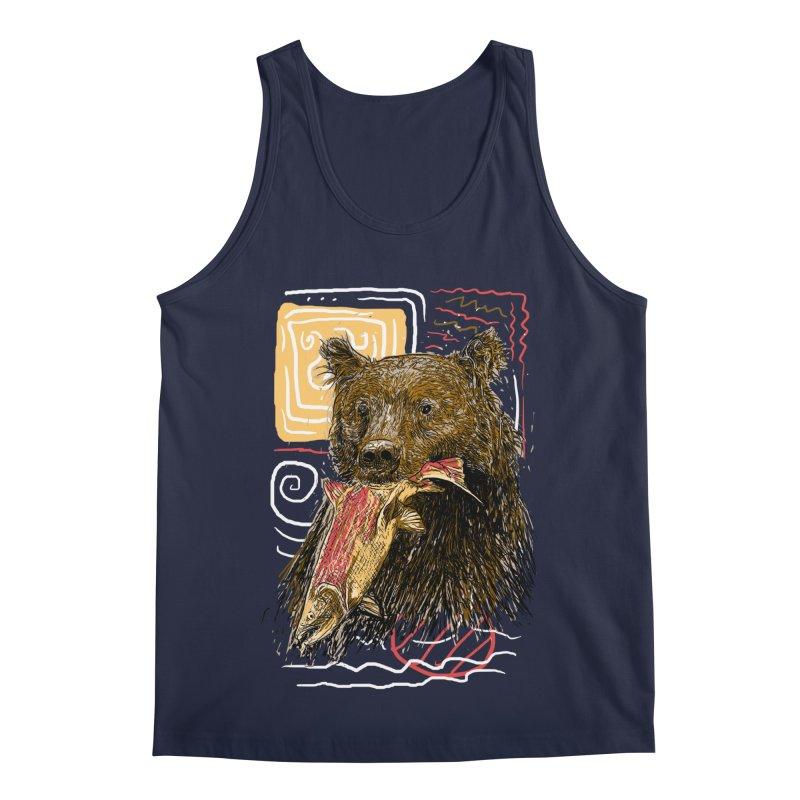 eat bear Men's Regular Tank by gupikus's Artist Shop