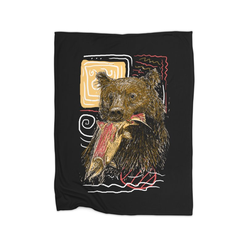 eat bear Home Blanket by gupikus's Artist Shop