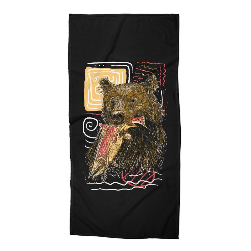 eat bear Accessories Beach Towel by gupikus's Artist Shop
