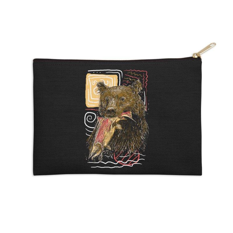 eat bear Accessories Zip Pouch by gupikus's Artist Shop