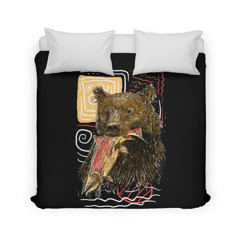 eat bear Home Duvet by gupikus's Artist Shop