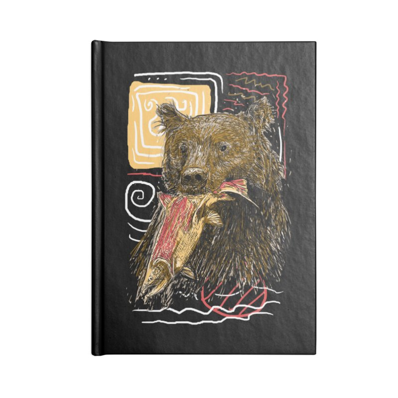 eat bear Accessories Blank Journal Notebook by gupikus's Artist Shop