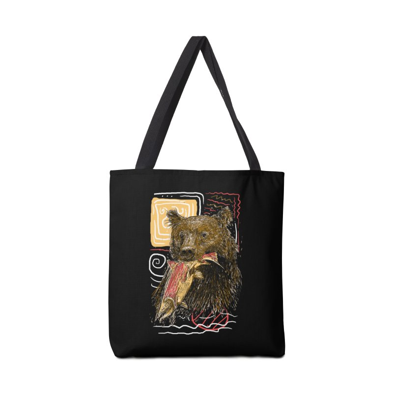 eat bear Accessories Tote Bag Bag by gupikus's Artist Shop