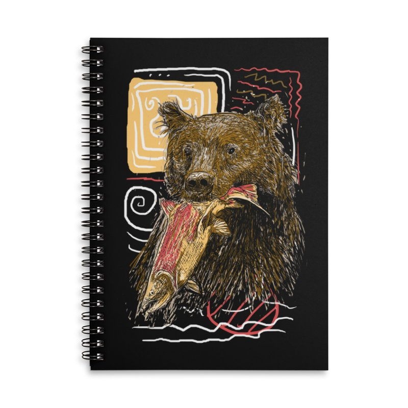 eat bear Accessories Lined Spiral Notebook by gupikus's Artist Shop