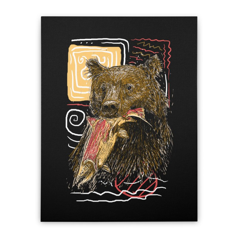 eat bear Home Stretched Canvas by gupikus's Artist Shop