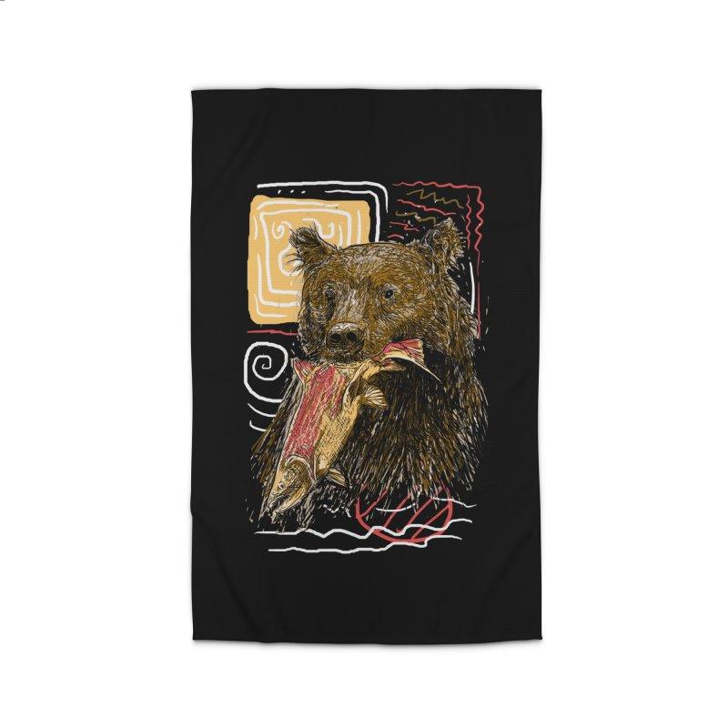 eat bear Home Rug by gupikus's Artist Shop