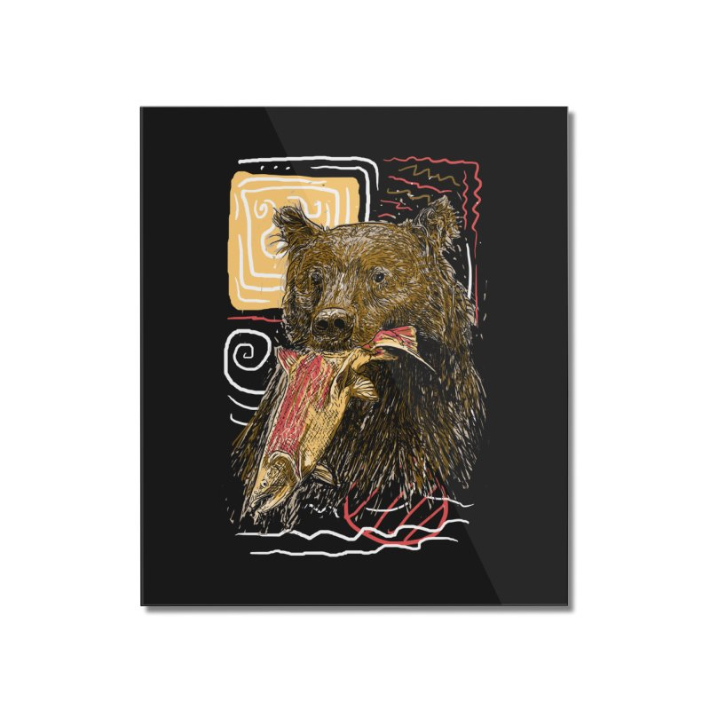 eat bear Home Mounted Acrylic Print by gupikus's Artist Shop