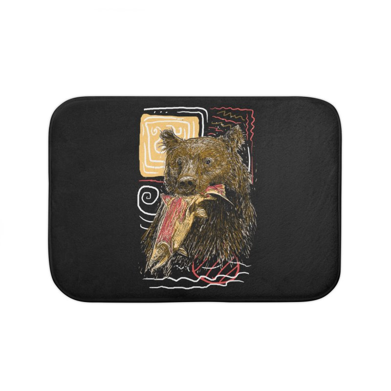 eat bear Home Bath Mat by gupikus's Artist Shop