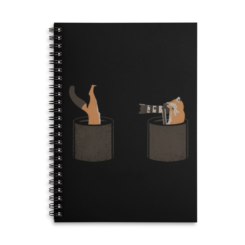 foxtographer Accessories Lined Spiral Notebook by gupikus's Artist Shop