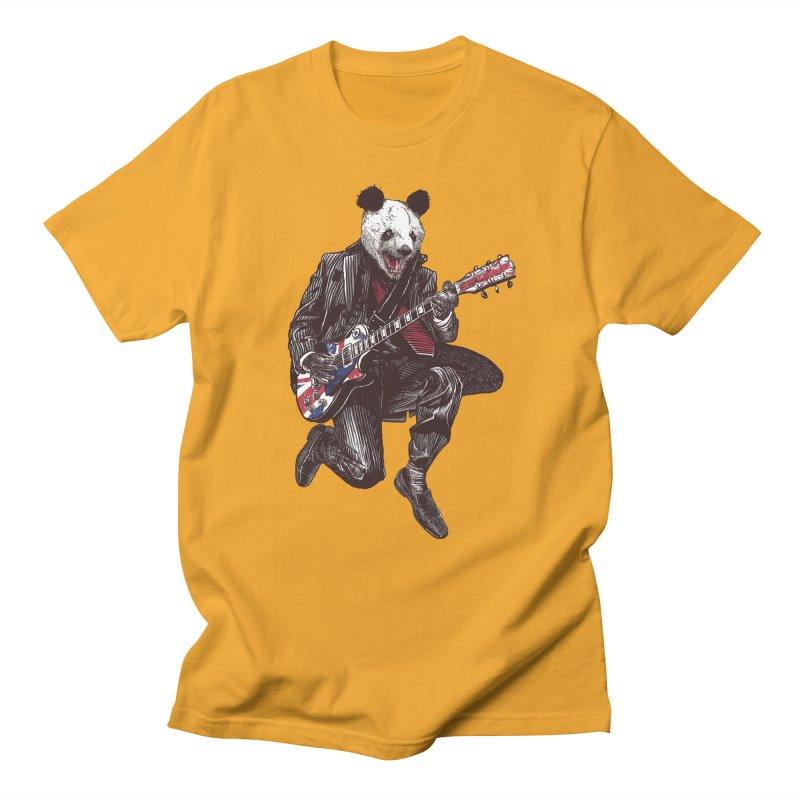 panda guitarist Women's Unisex T-Shirt by gupikus's Artist Shop