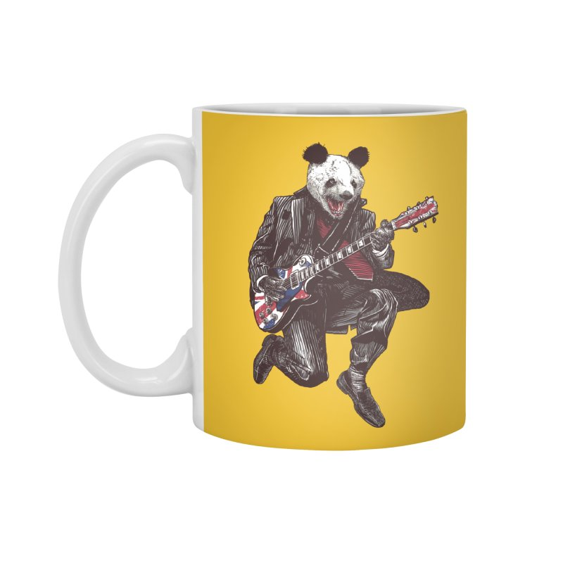 panda guitarist Accessories Standard Mug by gupikus's Artist Shop