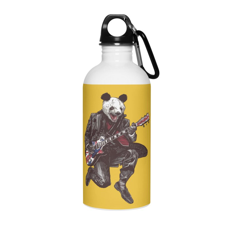 panda guitarist Accessories Water Bottle by gupikus's Artist Shop