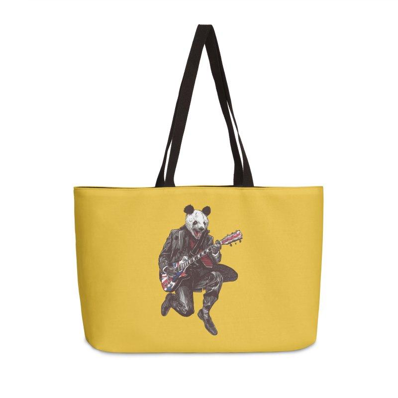 panda guitarist Accessories Weekender Bag Bag by gupikus's Artist Shop
