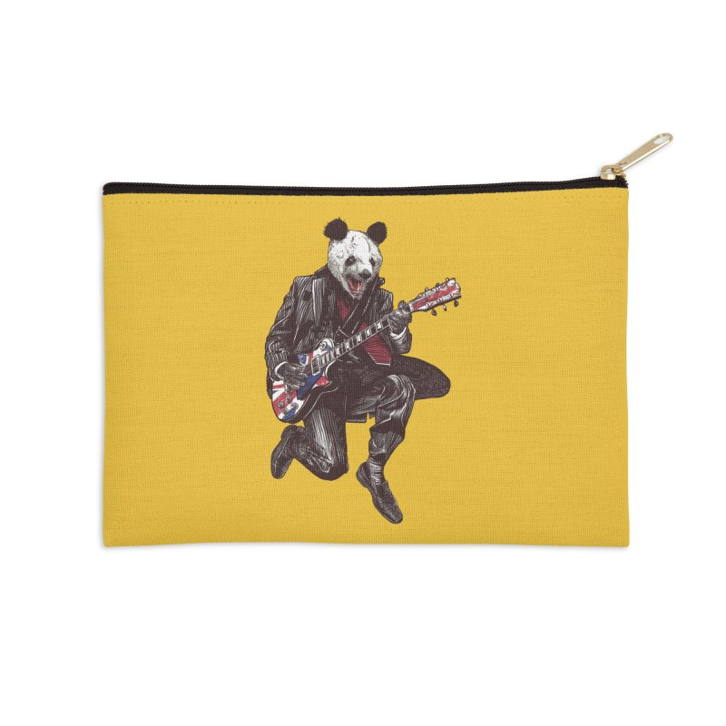 panda guitarist Accessories Zip Pouch by gupikus's Artist Shop