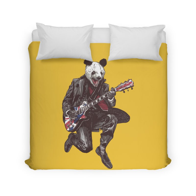 panda guitarist Home Duvet by gupikus's Artist Shop