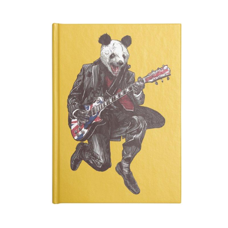 panda guitarist Accessories Lined Journal Notebook by gupikus's Artist Shop