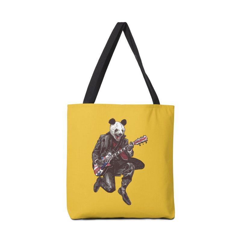 panda guitarist Accessories Bag by gupikus's Artist Shop