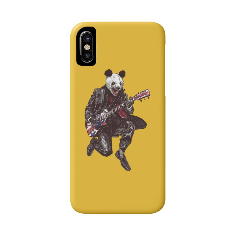 panda guitarist Accessories Phone Case by gupikus's Artist Shop